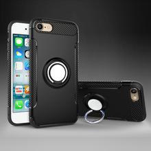 适用?#36824;鹖phonex指环铠甲手机壳 tpu+pc二合一防摔车载磁吸保护套