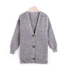 2018秋季新品针织毛衫中长款开衫纯色毛衣显瘦时尚韩版女装厂家