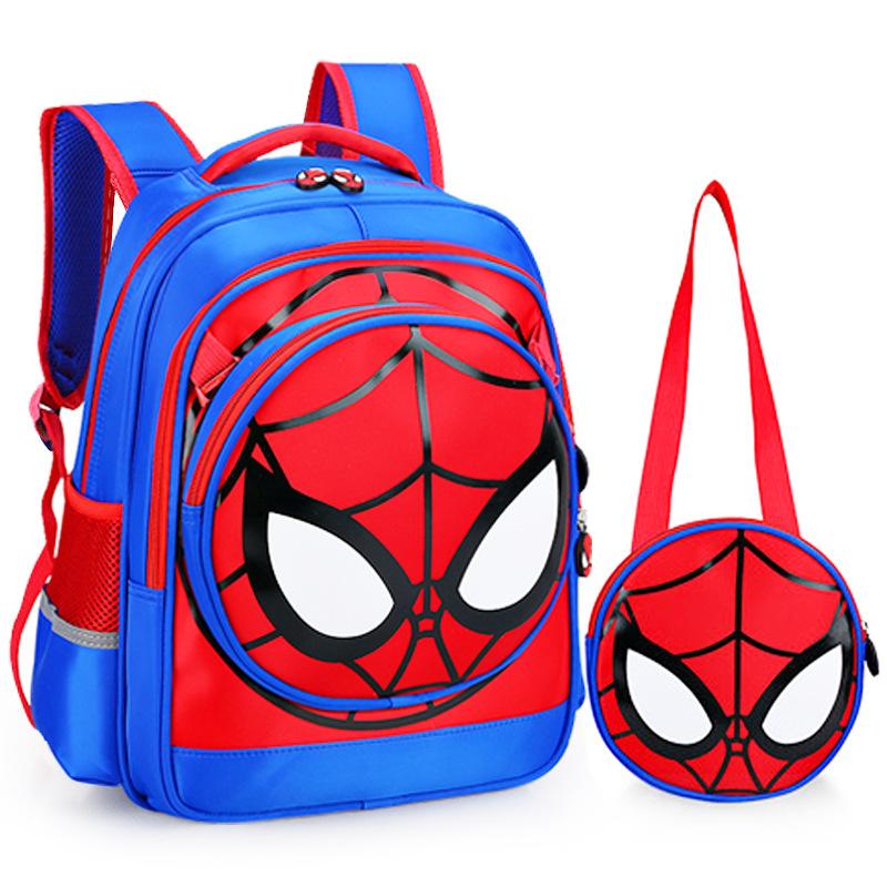 蜘蛛侠小学生书包男生儿童双肩背包可拆卸子母包幼儿超人书包防水