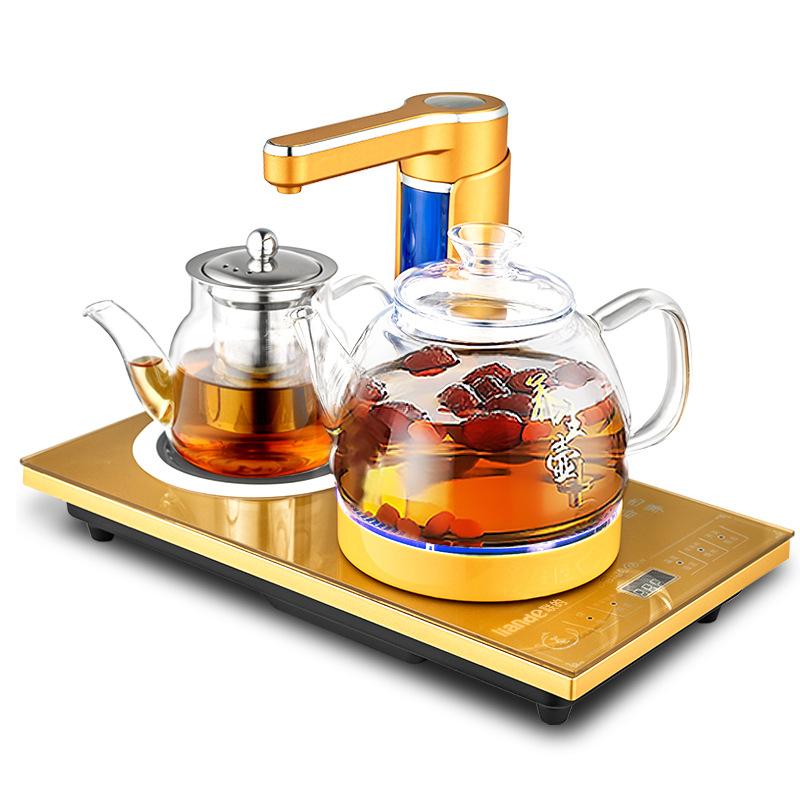 全自动上水电热水壶高硼硅玻璃烧水保温泡茶电茶炉家用抽水器套装