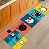 ins宠物卡通地毯 猫咪印花床边毯浴室卫生间厨房家用长方形防滑垫