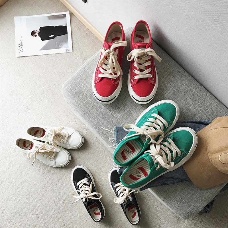 情侣开口笑帆布鞋韩国ulzzang休闲鞋超火街拍百搭布鞋潮一件代发