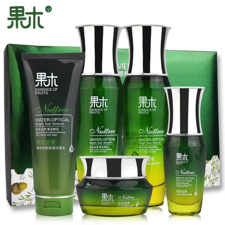 厂家坚果护肤品套盒5件套美容套盒女面部护理洁面乳BB霜柔肤水