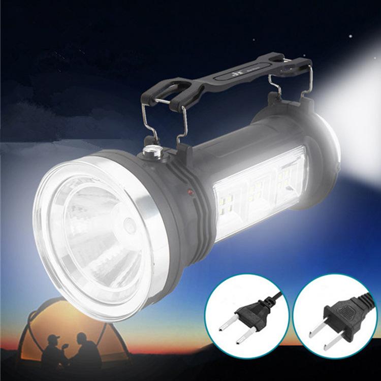 手电筒强光多功能太阳能可充电强光远射户外防水家用LED三种模式