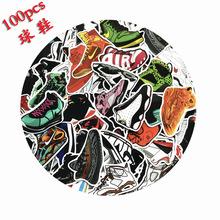 100张篮球鞋贴纸行李箱滑板吉他拉杆箱乔丹AJ鞋柜墙面潮装饰贴画