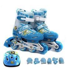 美洲狮溜冰鞋儿童全套装3-5-6-8-10岁初学者直排轮滑成人旱冰?#20449;? class=