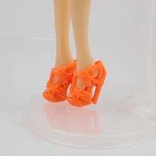 芭芘娃娃配件塑料高跟鞋玩具鞋五角星鞋  30CM 廠家直銷 批發零售