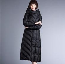 羽绒服女2018秋冬新款宽松中长款保暖厚款外套大码女装一件代发