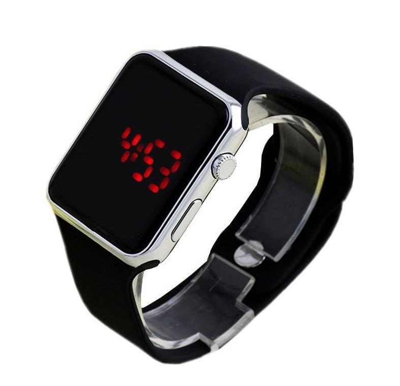 厂家爆款个性LED电镀时尚潮流?#36824;?#30789;胶手表可一件代发