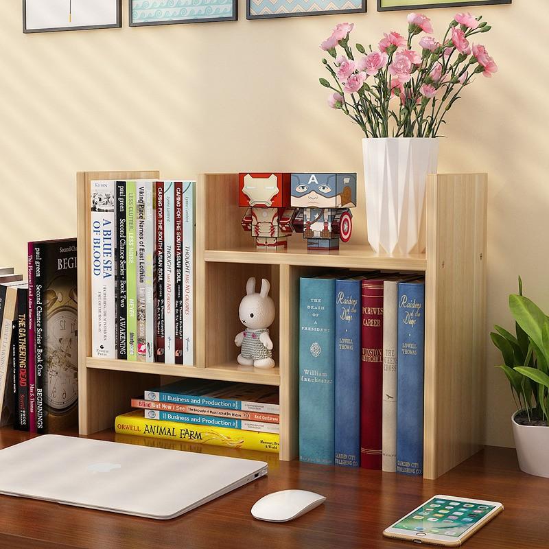 简易桌面小书架办公室置物架书柜组合多功能学生储物柜儿童收纳柜-
