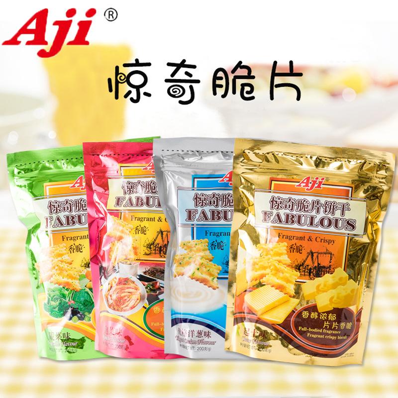 Aji尼西亚风味惊奇脆饼干/惊奇脆片 惊奇脆饼200g/包12包/箱零食