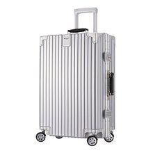 新款?#37327;?2寸拉杆箱金属包角行李箱20寸登机箱旅行箱24寸密码箱