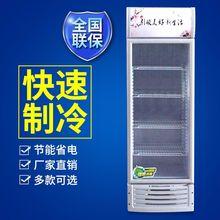 超市饮料冷藏展示柜商用立式单门啤酒柜不锈钢瓜果蔬菜保鲜展示柜
