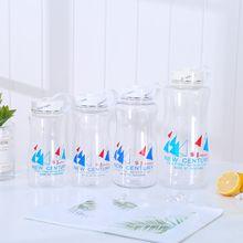 厂家直销 户外太空杯 创意透明运动水壶 单层PC塑料杯 定制批发