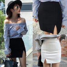 半身裙2019春夏新款韓版OL職業包裙彈力一步裙高腰開叉包臀短裙子