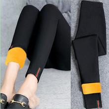 织带加绒加厚打底裤外穿紧身小脚铅笔裤黑色薄款九分女裤秋冬长裤