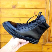 冬季馬丁靴男工裝靴真皮頭層牛皮男士短靴子英倫加絨潮流高幫男鞋
