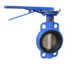 厂价供应不锈钢手动蝶阀 对夹式蝶阀 d71x图片