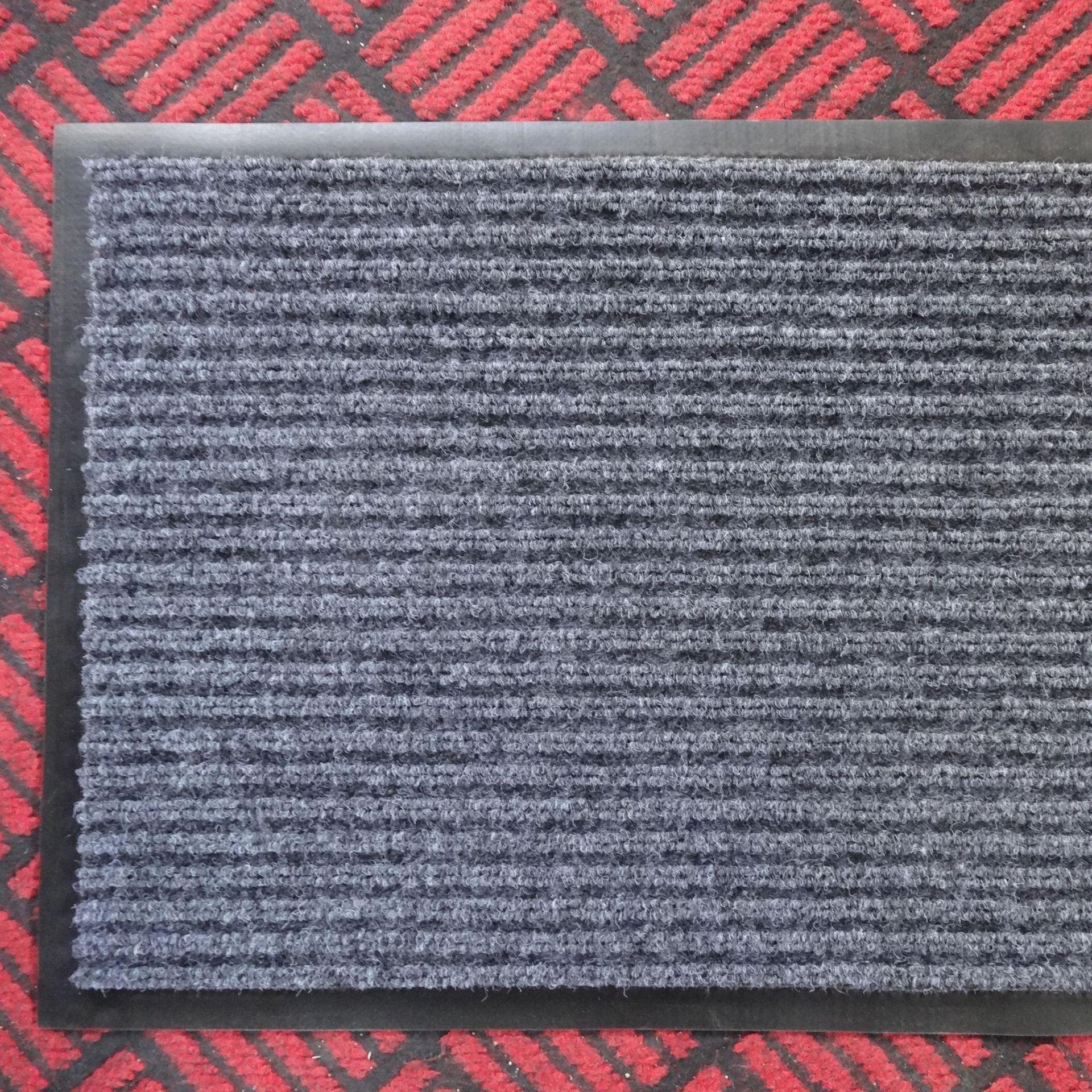 pvc煙灰色雙條紋地墊吸水防滑門墊入室門墊萊蕪生產廠家直銷
