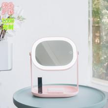 3life厂家新款美颜柔光led化妆镜创意小镜子装饰镜挂镜立镜二合一