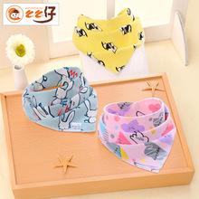 么么仔新款口水巾純棉嬰兒三角巾新生兒寶寶三角口水巾兒童圍嘴