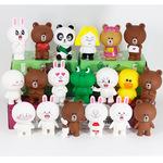 卡通熊兔子鸭子搪胶公仔摆件烘焙DIY蛋糕装饰玩偶创意可爱娃娃