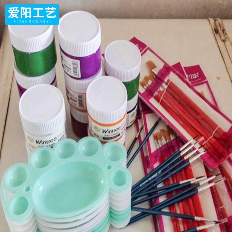 儿童石膏绘画套装 美术绘画颜料 绘画彩绘石膏工具
