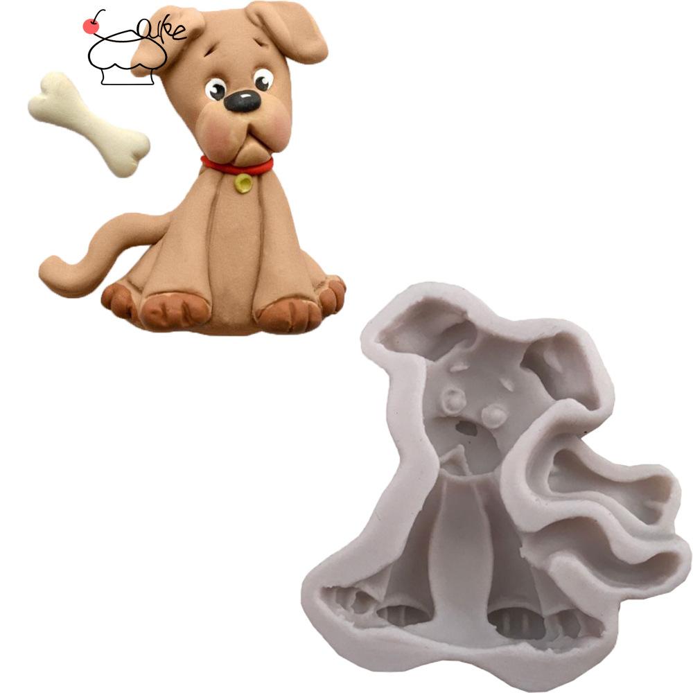小狗骨头卡通动物立体液态硅胶翻糖蛋糕模具烘焙k142