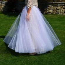 速卖通白色高腰闪光纱拖地长裙高腰两穿网纱半身裙跨境代发