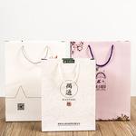 创意广告购物纸袋定做方底手提服装袋批发环保礼品包装袋定制logo图片
