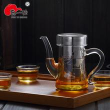 品一恒茶具 耐高温玻璃泡茶壶加厚不锈钢内胆过滤网茶漏网花茶壶