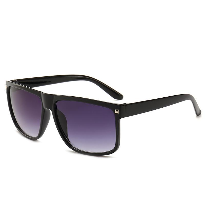 速卖通ebay爆款眼镜 欧美经典复古铆钉太阳镜 男女通用大方框墨镜