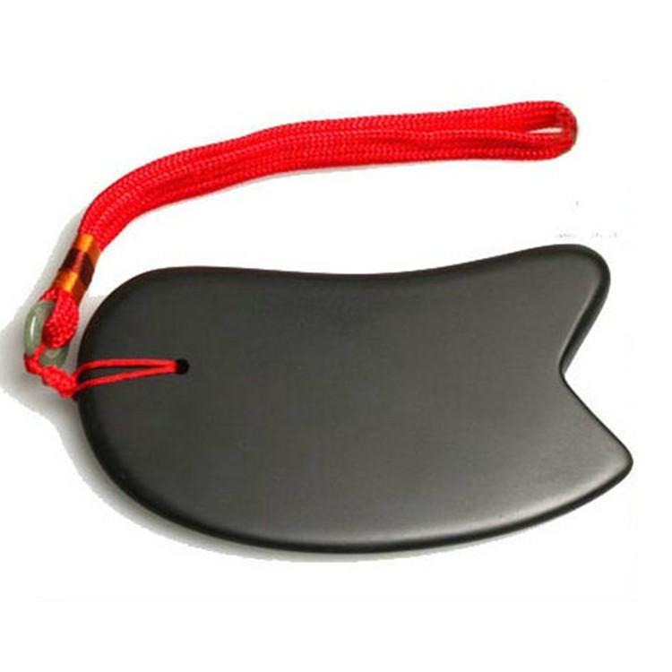 厂家直销 砭石刮痧板 黑色大刀型刮痧片 砭石会销礼品