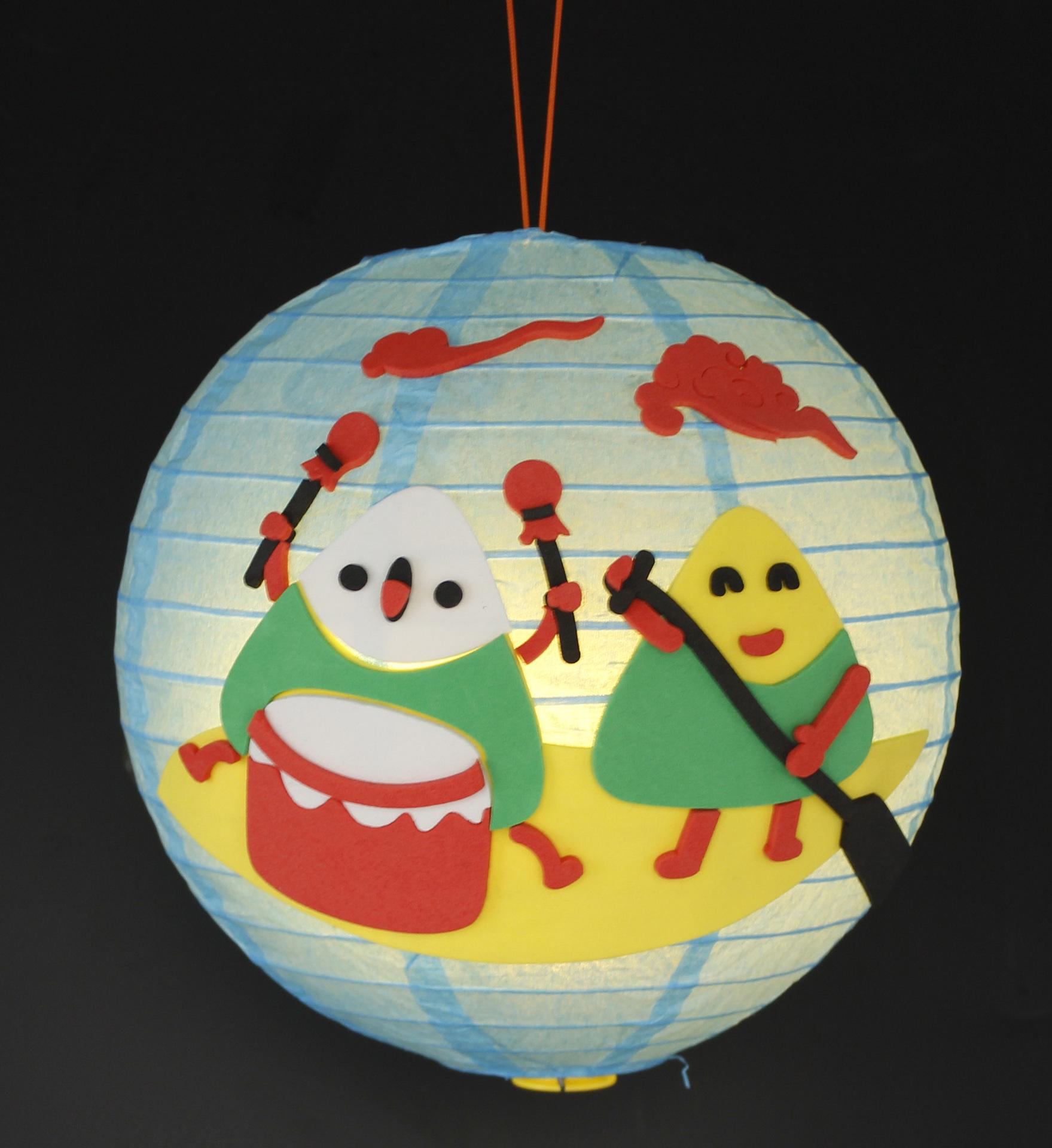 手工灯笼端午手提灯笼幼儿园diy手工制作材料包金翅膀