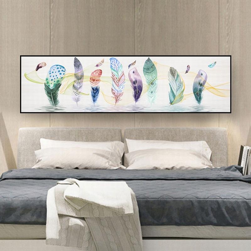 北欧风格卧室装饰画床头现代简约横版清新卡通沙发景墙画客厅挂画