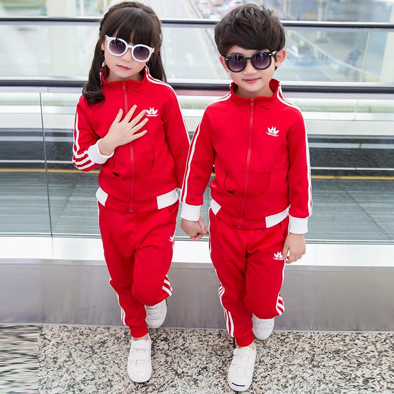 新款批发幼儿园园服男女生儿童运动服套装中小童装三件套一件代发