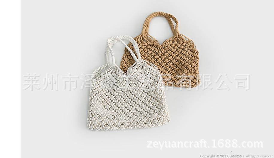 新款韩版棉线编织包手工编织厂家直销可一件代发