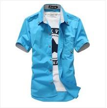 2016 .夏装新款.青春活力小蘑菇短袖衬衫 1809B-小蘑菇