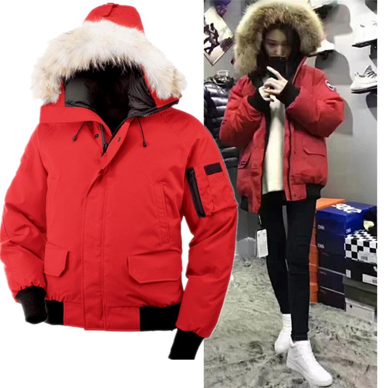 加拿大风情时尚休闲加厚保暖羽绒服男女外套冲锋衣防风防水短款鹅