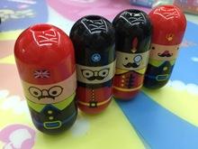 韩国文具 创意胡子造型卷笔刀 卡通双孔骑士削笔刀/转笔刀批发
