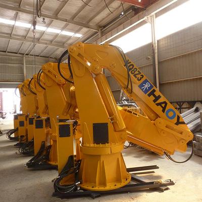 10米吊1吨折叠式克令吊 船吊 液压甲板液压起重机图片
