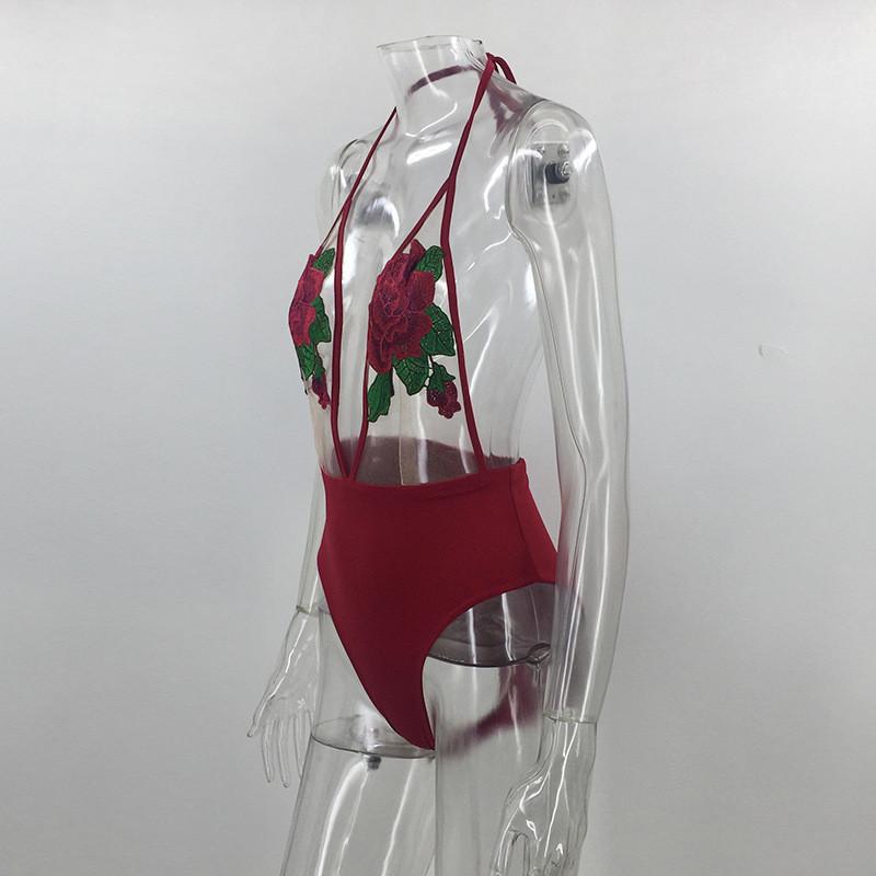 新款情趣内衣速卖通ebay爆款作用衣水溶花网纱挂脖沙滩比基尼道具情趣各种的泳衣连体图片