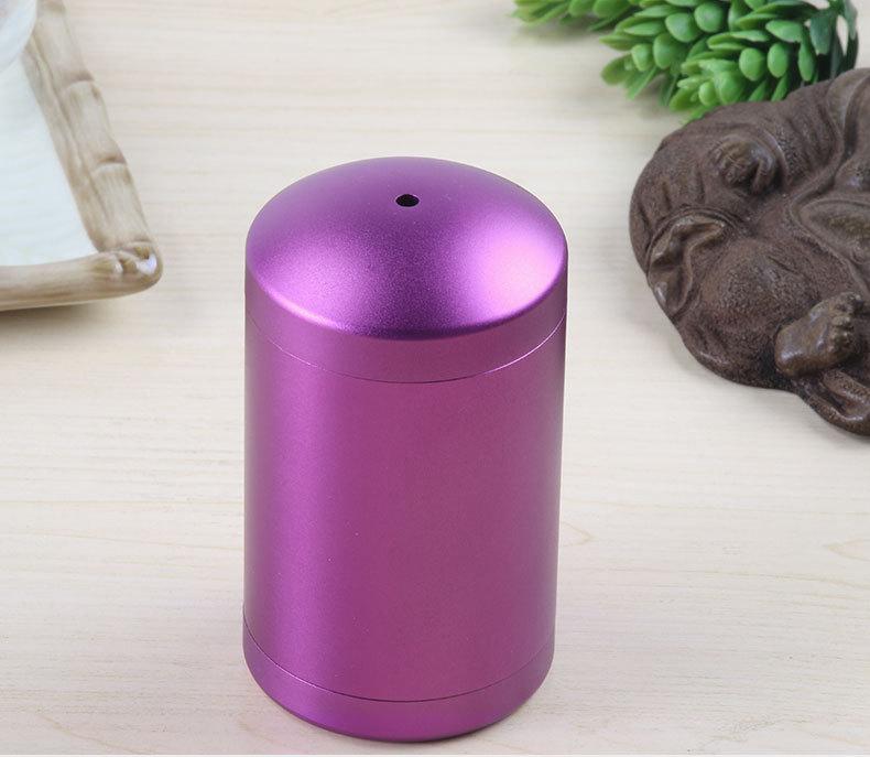 厂家定制款牙签筒欧式收纳盒餐厅家用牙签筒 紫色铝制牙签筒加工