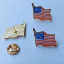 外贸徽章美国国旗胸牌批发贴纸水晶滴胶红旗形厂家直销现货可订制