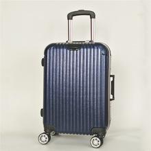 磨砂拉杆箱深框旅行箱铝框行李箱带挂扣20寸24寸礼品箱包厂家定制图片