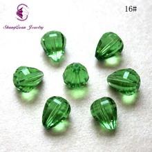 厂家直销水晶玻璃散珠切面水滴diy饰品配件手工串珠仿奥地利包邮