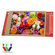 2.8英寸全彩色液晶TFT-LCD全视角点阵屏240x320分辨率拓微带PCB板