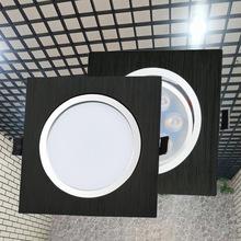 led嵌入式筒灯15*15方形黑色筒射灯服装店餐厅走廊店铺led筒灯