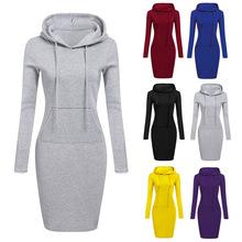亞馬遜 ebay wish 獨立站爆款秋冬歐美女裝 連帽系帶衛衣口袋長袖