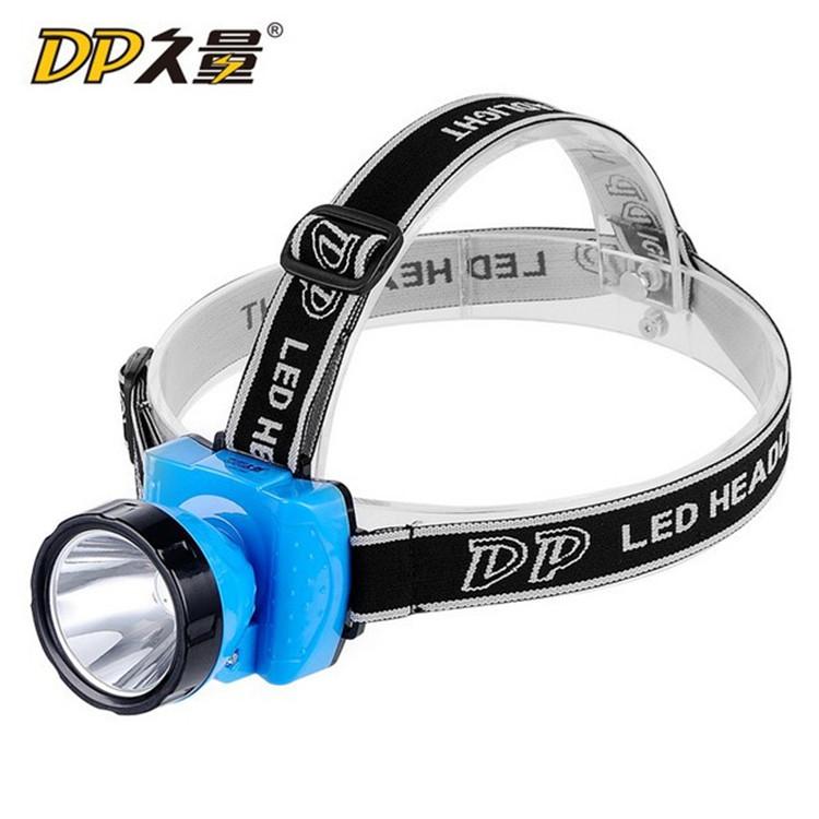久量强光LED-789双锂充电头灯户外野营应急充电头灯探照灯夜行灯